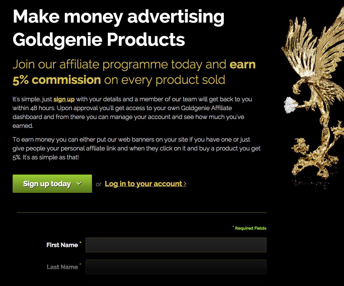 Goldgenie Website 2