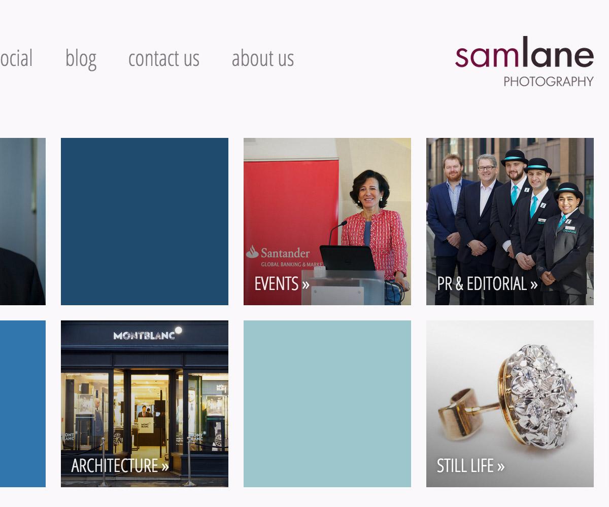 Sam Lane Photography Website 2