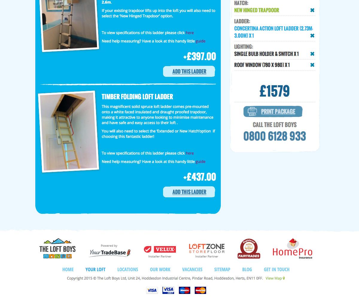 The Loft Boys Website 3