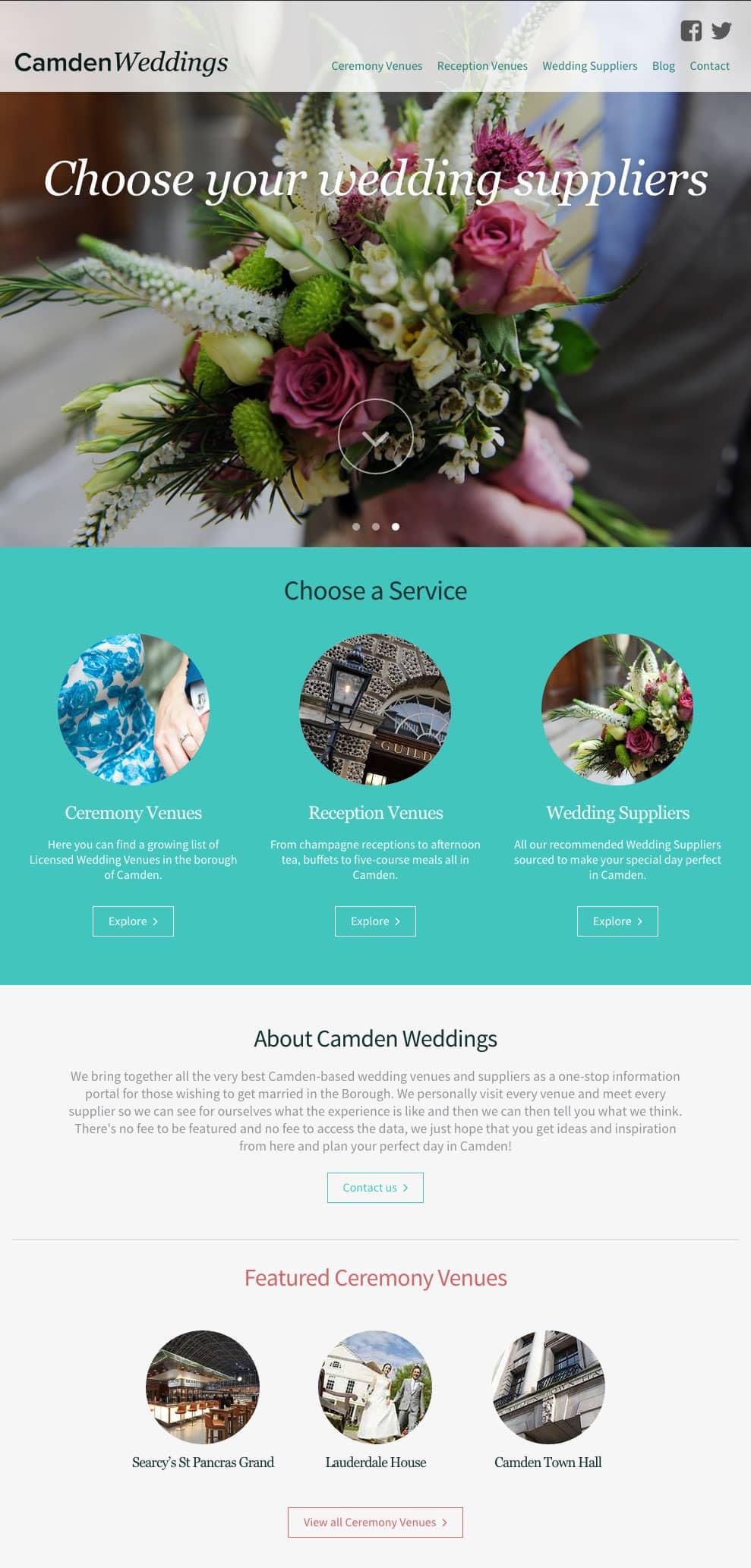 Camden Weddings Home Page