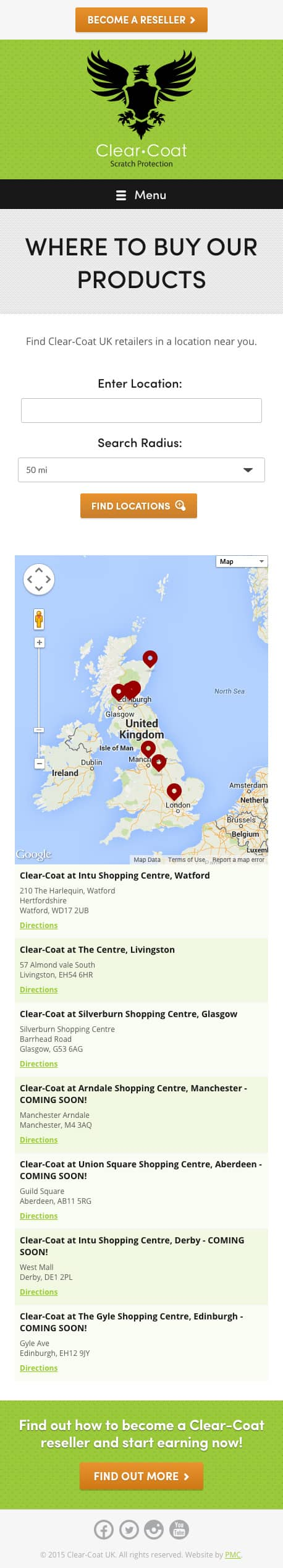 Clear-Coat UK Locations